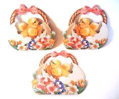 Spring Easter Basket Gift Bag Set of 3 Cards by injoytreasures, $12.00