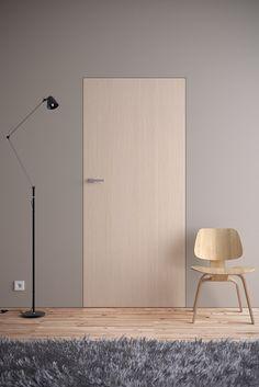 Drzwi - Drzwi z ukrytą ościeżnicą - Asilo - drzwi: wewnetrzne, zewnetrzne, antywlamaniowe, serwis, okna Minimalist Interior, Modern Interior, Interior Architecture, Interior And Exterior, House Doors, Room Doors, Window Design, Door Design, Invisible Doors