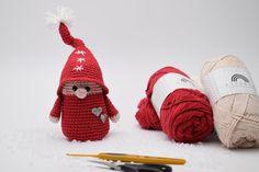 Hækleopskrifter → Se vores mere end 400 gratis hækleopskrifter All Things Christmas, Christmas Diy, Christmas Crafts, Christmas Ornaments, Christmas Knitting, Crochet Christmas, Crochet Toys, Sewing Crafts, Diy And Crafts