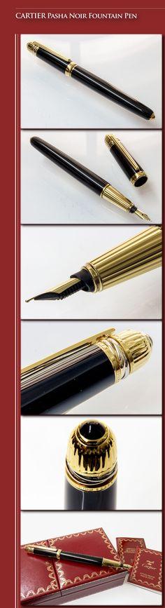 fd7781c16663 CARTIER Pasha Noir Fountain Pen (lacquered brass body