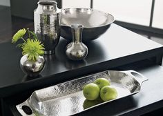 Modern Hammered Tray available to purchase at Ethan Allen of Orland Park, IL