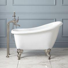 """44"""" Carter Mini Acrylic Clawfoot Tub - Clawfoot Tubs - Bathtubs - Bathroom"""