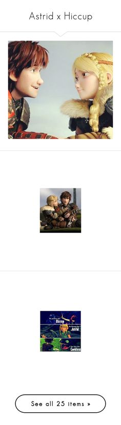 """""""Astrid x Hiccup"""" by bambolinadicarta-1 ❤ liked on Polyvore featuring Hiccup, astrid, howtotrainyourdragons, disney, dreamworks, icons, non-disney movies, drawings, how to train your dragon and httyd"""