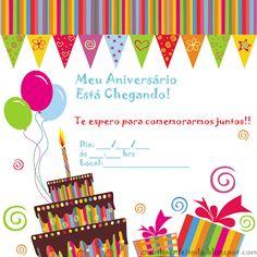Convites de Aniversário Para Imprimir