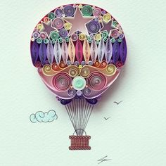 Artist Sena Runa left her day job to pursue her passion for beautifully-quilled paper art. #art #papercraft #craft