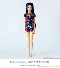 #momokodoll #PetWORKs X Doll Doll House #中国桃子同好会10周年纪念版 #CMFC #Today's momoko China MFC 10th AN | por 蔷薇粉雪の森