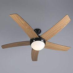 QAZQA Modern Deckenventilator Mit Beleuchtung Und Fernbedienung Cool  52 Flammig Schwarz/Innenbeleuchtung / Wohnzimmer