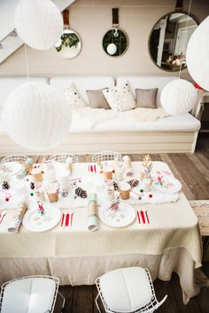 Kids holiday tablescape