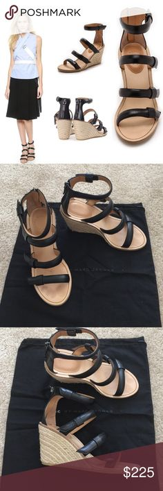 "Authentic Marc by Marc Jacobs Wedge sandals 36.5 Worn once in great condition, size 36.5/US 6.5, 3.5"" heel. ❌NO TRADE‼ Marc by Marc Jacobs Shoes Wedges"