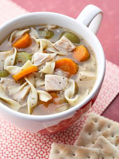 Our classic Chicken Noodle Soup is the perfect wintertime dish.