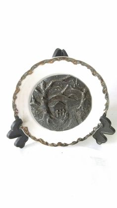 Farfurie din ceramica placata cu argint