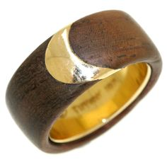 TIFFANY+Wood+Gold 1970's ring