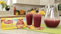 This Lipton Iced Tea recipe features frozen mixed berries and seltzer water. Find quick, easy and delicious recipes at DollarGeneral.com.