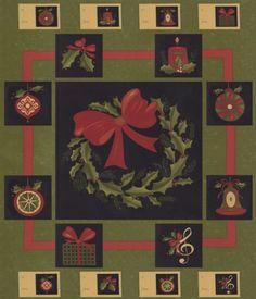 1 x Jolly Saint Nick Santa Fabric Panel Christmas Digitally Printed 16933-223