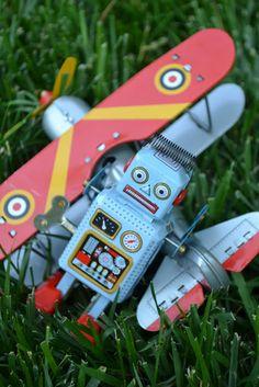 airplane robot antique toys