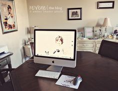 Amber Shader Photography - I need to check out her stuff..but i love this office space setup