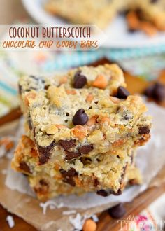 Coconut Butterscotch Chocolate Chip Gooey Bars - Mom On Timeout
