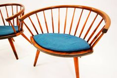 """""""Arka"""" Chairs by Yngve Ekström with Original Cushions 