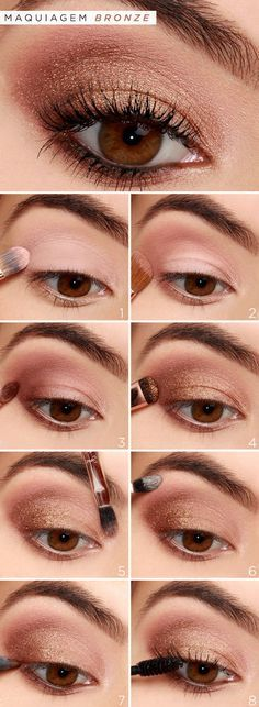 How-To: Rose Gold Eyeshadow Tutorial How-To: Rose Gold Eyeshadow Tutorial . - How-To: Rose Gold Eyeshadow Tutorial How-To: Rose Gold Eyeshadow Tutorial . Rose Gold Eyeshadow, Makeup Eyeshadow, Makeup Brushes, Bronze Eyeshadow, How To Eyeshadow, Eyeshadow Makeup Tutorial, Glitter Makeup, Eyebrow Makeup, Makeup Remover