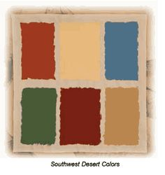 Southwestern Paint Color Schemes | The Southwest Desert Colors are rich yet subtle colors and they have a …