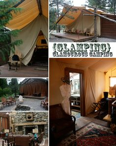 """Montana """"glamping"""" (camping in luxury)."""