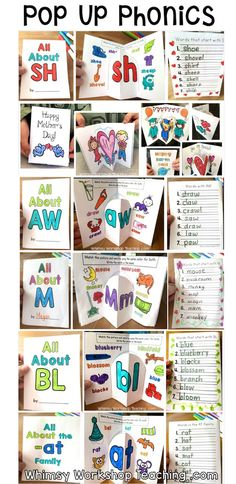 Pop Up Phonics is a fun and interactive way to practice spelling patterns and phonics! Each skill is practiced in a simple two-fold pop-up card that students love to read to each other after they've completed all of the writing inside. Full Year Writing Center Bundle or Seasonal Holiday Writing sets available. (Free sample pages)