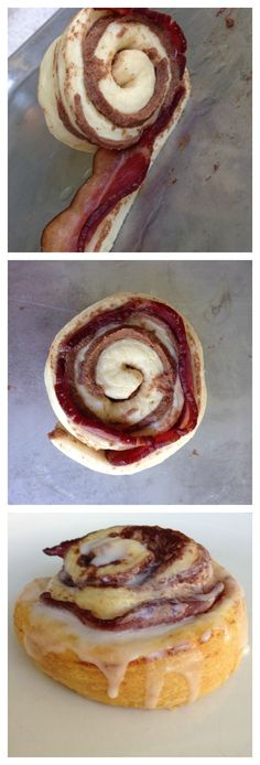 Not sure about these - would you try them? Comments please? Bacon Wrapped Cinnamon Rolls