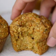 Zucchini Carrot Muffins are great to have for an on-the-go snack for yourself or for your toddler; these muffins are filled zucchini, shredded carrots and unsweetened coconut in each bite. Carrot Zucchini Recipe, Shredded Carrot Recipe, Shredded Zucchini Recipes, Zucchini Muffin Recipes, Carrot Recipes, Baby Food Recipes, Baking Recipes, Dessert Recipes, Easter Recipes