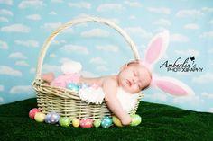 Some bunny is sleepy!  Newborn Photography Easter