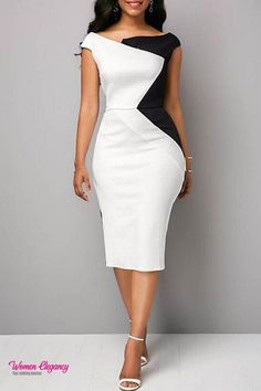 Material:Polyester Silhouette:Bodycon Dress Length:Mid-Calf Sleeve Length:Sleeveless Combination Type:Single Waist Line:Mid Waist Closure:Pullover Elasticity:Micro-Elastic Detachable Collar:No. Source by lynnellruttan dresses Trendy Dresses, Sexy Dresses, Dress Outfits, Casual Dresses, Fashion Outfits, Dress Fashion, Cheap Dresses, Bodycon Fashion, Girly Outfits