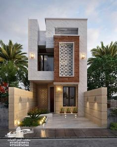 modern minimalist tiny house design ideas for your convenience 27 3 Storey House Design, Bungalow House Design, House Front Design, Tiny House Design, Modern House Design, Modern Bungalow, Modern House Facades, Modern Exterior House Designs, Narrow House Designs