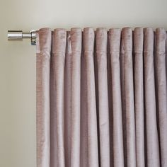 Cotton Luster Velvet Curtain - Dusty Blush | west elm