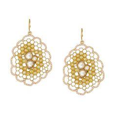 Honeycomb Statement #Earrings