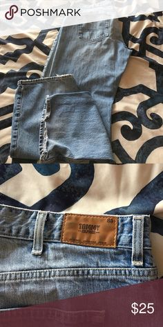 Men's jeans Men's tommy jeans other than the ratted bottoms nothing is wrong with these jeans Tommy Hilfiger Jeans Relaxed