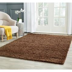 Athens Shag Brown 4 ft. x 6 ft. Area Rug