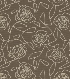 Home Decor Upholstery Fabric-Crypton Bed Of Roses-Gray, , hi-res