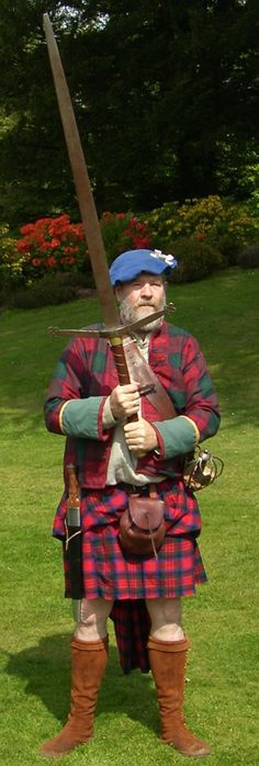 Scottish Claymore; wow that sword looks almost 5'-6'