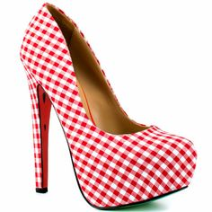 Melons - Red $129.99    You'll stay fresh with this juicy pump by Taylor Says. The Melons can only be good for your health with its red and white gingham fabric upper, 6 inch heel and 1 1/2 inch platform for the perfect look. A watermelon printed leather sole will let you live the lazy days of summer, no matter what season it is. www.vipfashionaustralia.com