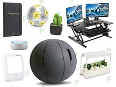 10 Office Upgrades To Make You Happier At Work - DealTown, US - Get more done at work in 2020 with great deals on desk risers, HappyLights, smart speakers and more mood-boosting essentials. Happy At Work, Are You Happy, Multiple Monitor Setup, Traditional Office Chairs, Desk Riser, Ball Chair, Keep The Lights On, Better Posture, Computer Setup