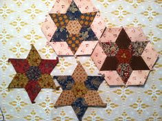"English Paper Piecing-next project from Paper Pieces pattern ""Stars of Savannah"""