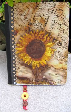 Journal  Altered Composition Notebook by bakercreekstudio on Etsy, $14.95