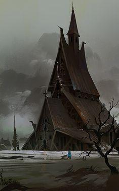 Best Ideas For Concept Art Landscape Fantasy Temples Fantasy City, Fantasy Castle, Fantasy Places, Medieval Fantasy, Sci Fi Fantasy, Fantasy World, Fantasy Art Landscapes, Fantasy Landscape, Landscape Art