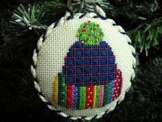 needlepoint hat ornament