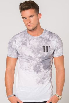 11 Degrees Cloud Fade Short Sleeve T-Shirt - White