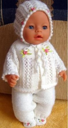free knitting patterns for doll clothes | Doll knitting ...