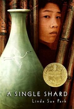 A Newbery Award winner - A Single Shard by Linda Sue Park. The teen librarian at my local branch recommended this one!