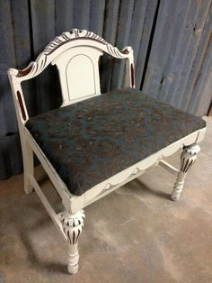little bench. I could do this with broken chair. Photo from facebook a to z custom creations