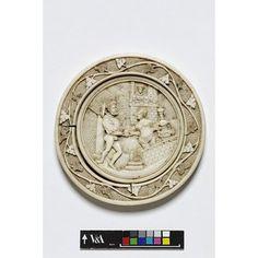 Mirror case (back) - David's message to Bathsheba. Early 16th century