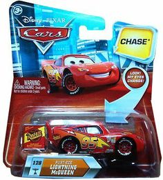 Disney / Pixar CARS Movie 155 Die Cast Car with Lenticular Eyes Series 2 RustEze Lightning McQueen Chase Piece! by Mattel. $12.48. Rust Eze Can Lightning McQueen Lenticular Chase Edition Mattel 1:55 Scale Diecast. Rust Eze Can Lightning McQueen Lenticular Chase Edition Mattel 1:55 Scale Diecast