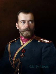 Colorization (Nicholas II of Russia in the uniform of the...)